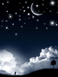 Отличная заставка на нокию 2700 с изображением ночного неба.