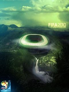 Картинка в стиле постера чемпионата мира по футболу 2010